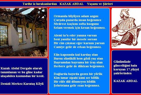 ORMANDA BÜYÜYEN ADAM AZGINI, Kazak Abdal'ın Hikayesi – Cemil Biçer yazdı…