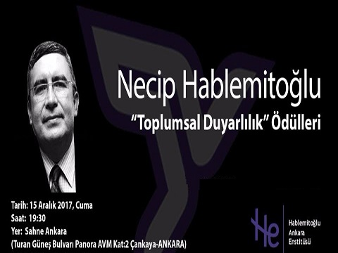 Necip Hablemitoğlu 2017 Toplumsal Duyarlılık Ödülleri Açıklandı.