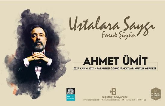 Beşiktaş Belediyesi Akatlar Kültür Merkezi – Ahmet Ümit'e Saygı Gecesi