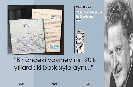 Yapı Kredi Yayınları'ndan 'Nazım Hikmet'e sansür' iddialarına cevap geldi.