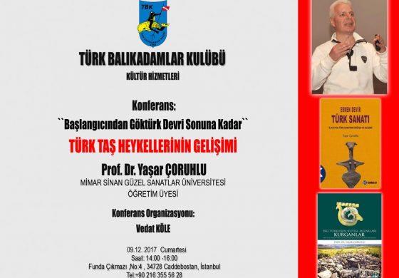 Türk Balıkadamlar Kulübü Konferans – Prof. Dr. Yaşar Çoruhlu 'Türk Taş Heykellerinin Gelişimi'