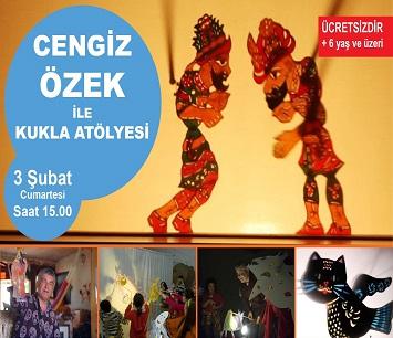Sabahattin Ali Kültür Merkezi – Cengiz ÖZEK ile Çocuklar için Gölge Kukla Yapım Atölyesi