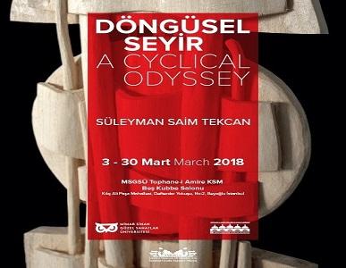 "Tophane-i Amire Kültür Merkezi Resim ve Heykel Sergisi – Süleyman Saim Tekcan ""Döngüsel Seyir"""