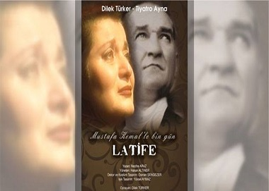 "Tiyatro Ak'la Kara Sahnesi – ""Mustafa Kemal'le Bin Gün – Latife"""