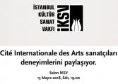 Cité Internationalé des Arts Sanatçı Buluşması ve Sohbet