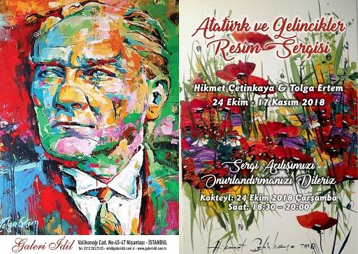 Galeri İdil Resim Sergisi – Hikmet Çetinkaya, Tolga Ertem 'Atatürk ve Gelincikler'