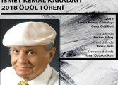 Sabahattin Ali Kültür Merkezi İSMET KEMAL KARADAYI 2018 ÖDÜL TÖRENİ
