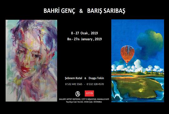Galeri Artist Editions ve City's Nişantaşı Resim Sergisi – Bahri Genç, Barış Sarıbaş
