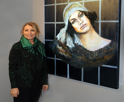 "Ressam Serpil Başaran'ın ""b'AKIŞ""ı Galeri İdil'de!"