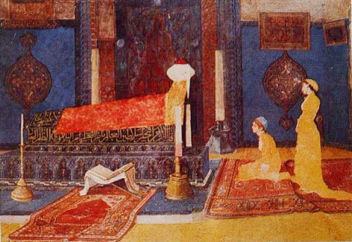 """Osman Hamdi Bey'in """"Türbe Ziyaretinde İki Genç Kız"""" eseri – Aysu Altaş yazdı…"""