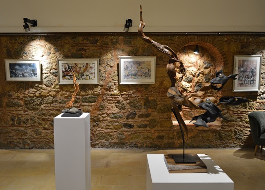 Suluboya ve Heykel sergisi D'ART Galeri'de bir arada!