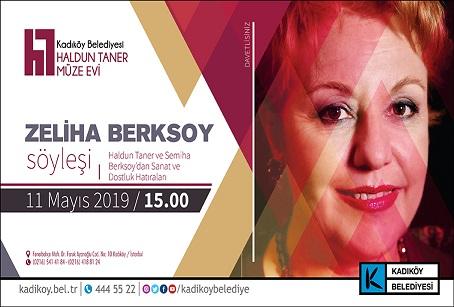 """Kadıköy Belediyesi Haldun Taner Müze Evi Söyleşi – Zeliha Berksoy """"Haldun Taner ve Semiha Berksoy'dan Sanat ve Dostluk Hatıraları"""""""