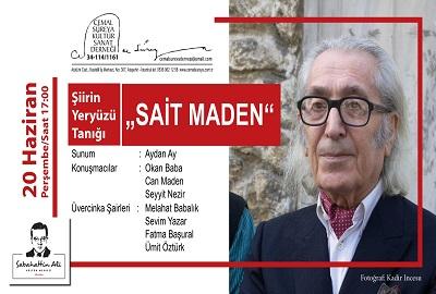 """Sabahattin Ali Kültür Merkezi Altıntepe Konuşma – Şiirin Yeryüzü Tanığı """"SAİT MADEN"""""""