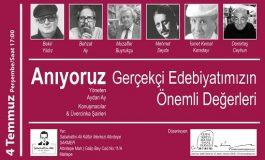 Sabahattin Ali Kültür Merkezi Toplumcu Gerçekçi Edebiyatımızın Önemli Değerlerini Anıyor.