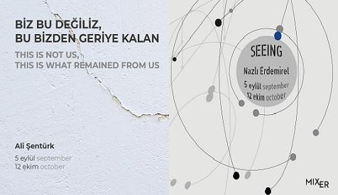 """Mixer Sergiler – Ali Şentürk """"Biz Bu Değiliz, Bu Bizden Geriye Kalan"""", Nazlı Erdemirel """"Seeing"""""""