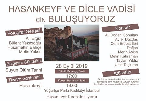 Kadıköy Yoğurtçu Parkı – Hasankeyf ve Dicle Vadisi için etkinlikler