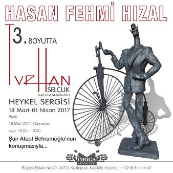 """IMOGA Art Gallery Heykel Sergisi - Hasan Fehmi Hızal """"3. Boyutta Turhan Selçuk Çizgi Kahramanları"""""""