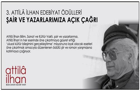 Photo of 3. Attilâ İlhan Edebiyat Ödülleri Çağrısı