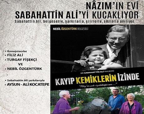 Photo of Şişli Belediyesi, Nâzım Hikmet Vakfı – 'Sabahattin Ali'yi Anma Gecesi
