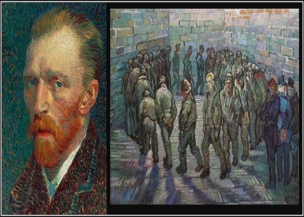 Photo of Van Gogh'un kendisini çizdiği eseri 'Tutuklular Çemberi'