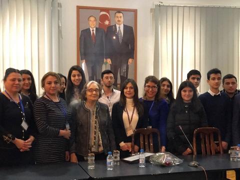 Photo of GÜLTEN DAYIOĞLU AZERBAYCAN'DA ÜNİVERSİTELİLERLE BULUŞTU