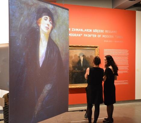 """Photo of """"Mihri: Modern Zamanların Göçebe Ressamı"""" sergisi SALT Galata'da açıldı"""