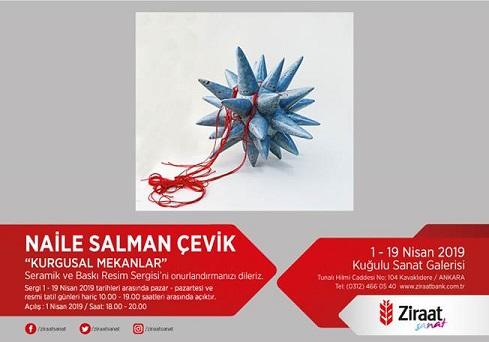 """Photo of Ziraat Bankası Kuğulu Sanat Galerisi Seramik ve Baskı Resim Sergisi – Naile SALMAN ÇEVİK """"KURGUSAL MEKANLAR"""""""