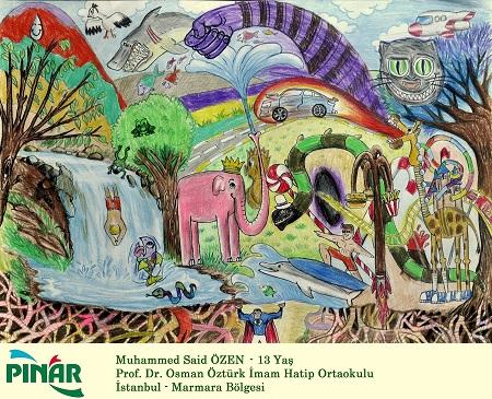 Photo of 38. Uluslararası Pınar Çocuk Resim Yarışması'nda çocuklar hayallerini çizdi