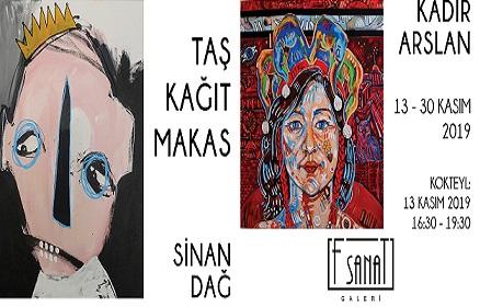 Photo of F Sanat Galerisi İkili Sergi – 'Taş, Kağıt, Makas'