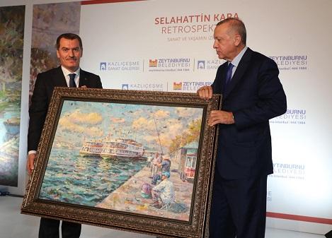 Photo of Cumhurbaşkanı Erdoğan Resim Sergisi Açtı.