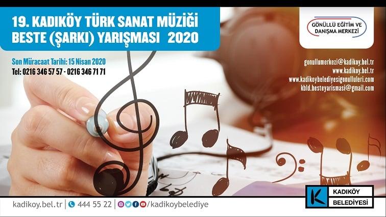 Photo of KADIKÖY TÜRK SANAT MÜZİĞİ BESTE YARIŞMASI BAŞLADI