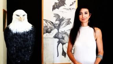 Photo of Esra Sağlık'ın eserleri Bodrum'da sergilendi.