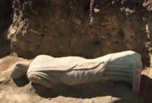Photo of M.S. üçüncü yüzyıla ait kadın heykel bulundu.