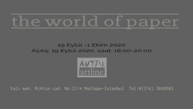 "Photo of KUYTU ARTLINE Grup Sergisi – ""the world of paper"""